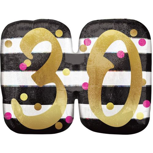 Pink & Gold 30th Birthday Holographic SuperShape
